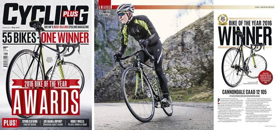 Cannondale CAAD 12 zdobywa tytuł Roweru Roku wg magazynu Cycling Plus